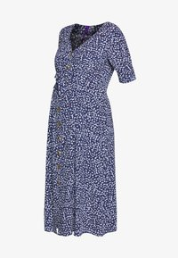 Seraphine - BEA MIDI TUCK TIE DRESS - Jersey dress - navy floral - 4