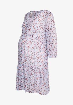 INDIANA TIERED BUTTON FRONT DRESS - Sukienka koszulowa - blue