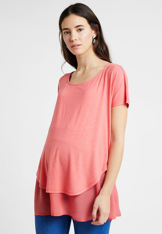 ROXANNE NURSING - T-Shirt print - coral