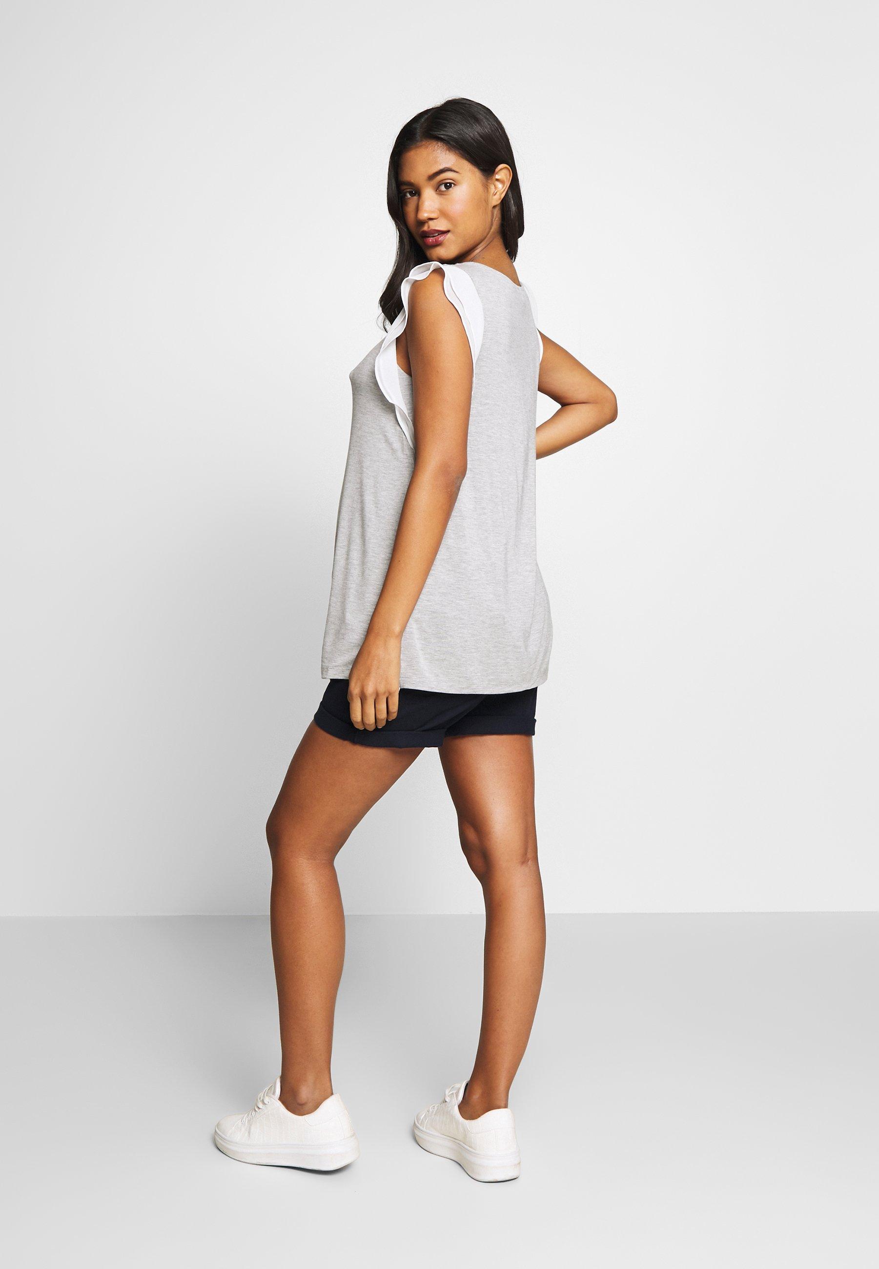Seraphine GABRIELLA  WITH TRIM - T-shirts med print - grey/white