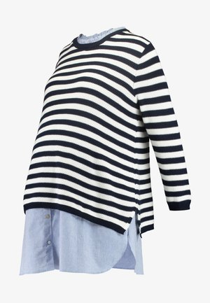 JANICE 2-IN-1 - Strickpullover - nautical blue