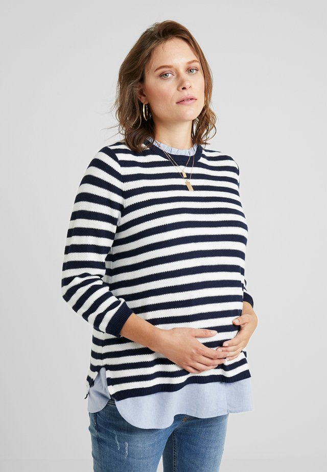 JANICE 2-IN-1 - Sweter - nautical blue