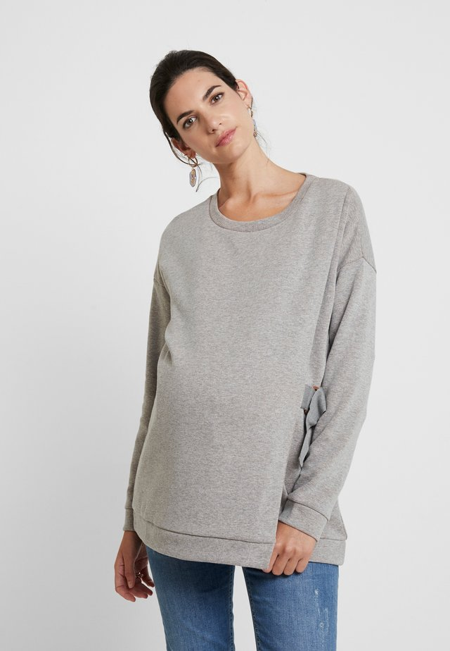 MINERVA - Sweatshirt - grey/metallic