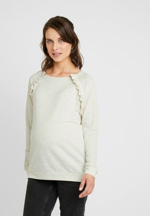 IVANNA FRILL DETAIL NURSING - Sweatshirt - sandgold