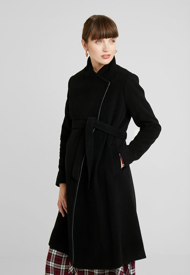 DONATELLA BLEND WRAP COAT - Short coat - black