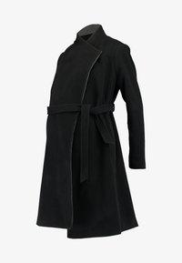 Seraphine - DONATELLA BLEND WRAP COAT - Kort kåpe / frakk - black - 4