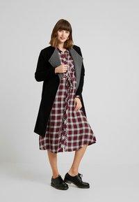 Seraphine - DONATELLA BLEND WRAP COAT - Short coat - black - 1