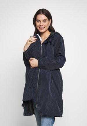 SKYLARRAINCOAT WITH BABY POUCH - Parkatakki - navy