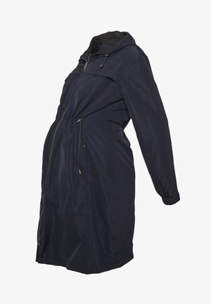 SKYLARRAINCOAT WITH BABY POUCH - Parka - navy