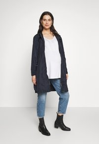 Seraphine - SKYLARRAINCOAT WITH BABY POUCH - Parka - navy - 1