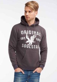 SOULSTAR - SOULSTAR  - Jersey con capucha - dark grey - 0