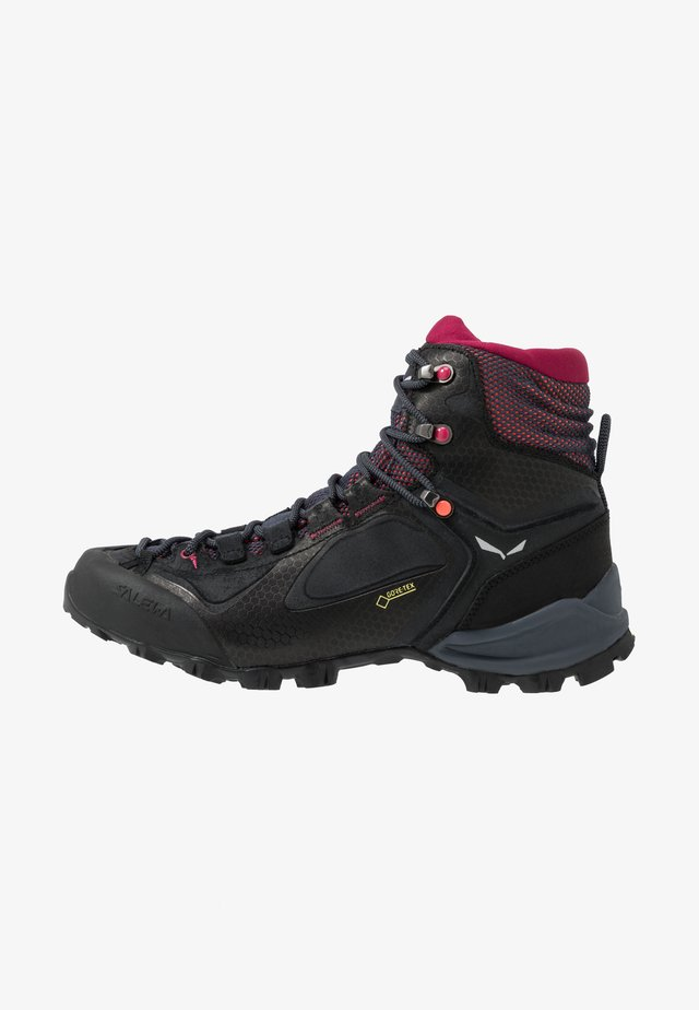 ALPENVIOLET MID GTX - Hiking shoes - ombre blue/fluo coral