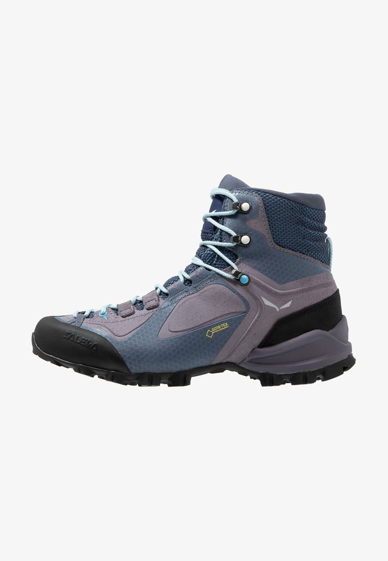 Salewa - ALPENVIOLET MID GTX - Hiking shoes - grisaille/ethernal blue