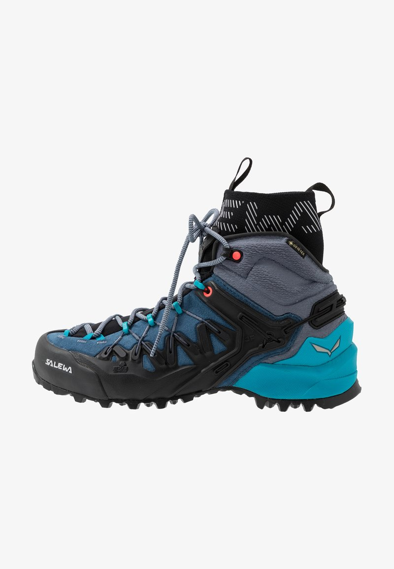Salewa - WILDFIRE EDGE MID GTX - Hiking shoes - poseidon/grisaille