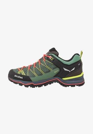 MTN TRAINER LITE GTX - Hiking shoes - feld green/fluo coral