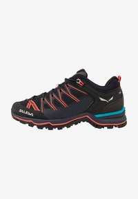 Salewa - MTN TRAINER LITE - Hiking shoes - premium navy/fluo coral - 0