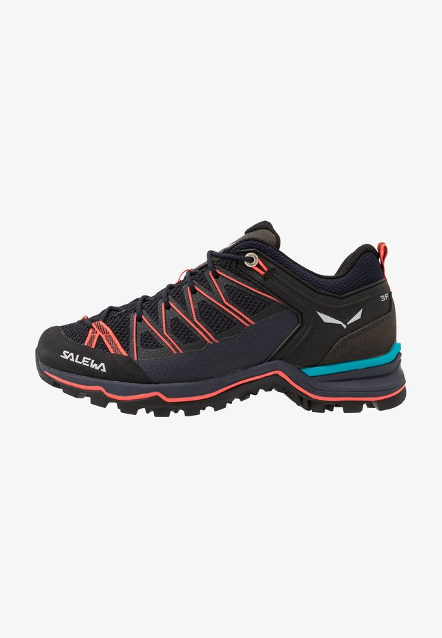 MTN TRAINER LITE - Hiking shoes - premium navy/fluo coral