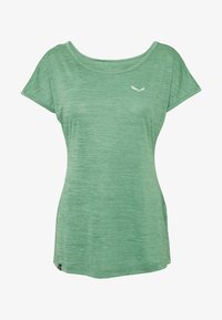 Salewa - PUEZ DRY TEE - T-shirts med print - feldspar green melange - 4