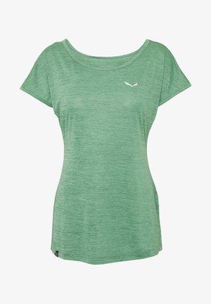 PUEZ DRY TEE - T-shirts med print - feldspar green melange