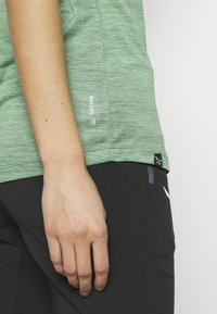 Salewa - PUEZ DRY TEE - T-shirt print - feldspar green melange - 5