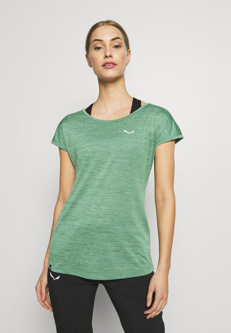 Salewa - PUEZ DRY TEE - T-shirt print - feldspar green melange