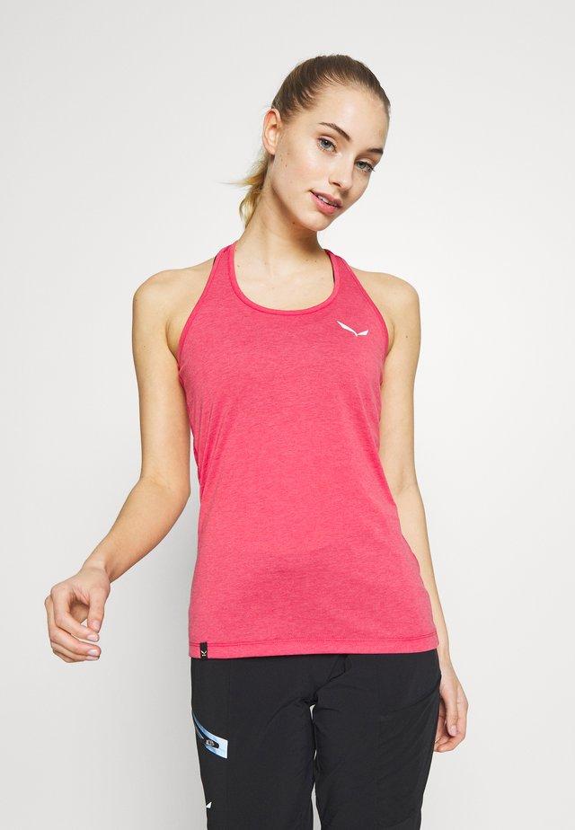 AGNER HYBRID DRI REL TANK - Sports shirt - virtual pink