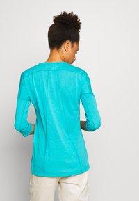 Salewa - PEDROC 2 DRY TEE - Sports shirt - ocean melange - 2