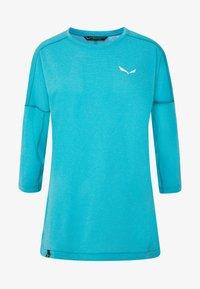 Salewa - PEDROC 2 DRY TEE - Sports shirt - ocean melange - 4