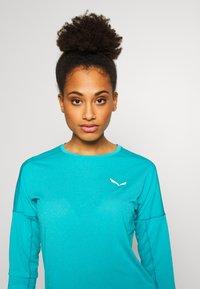 Salewa - PEDROC 2 DRY TEE - Sports shirt - ocean melange - 3