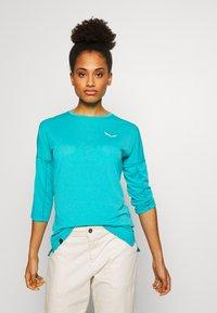Salewa - PEDROC 2 DRY TEE - Sports shirt - ocean melange - 0