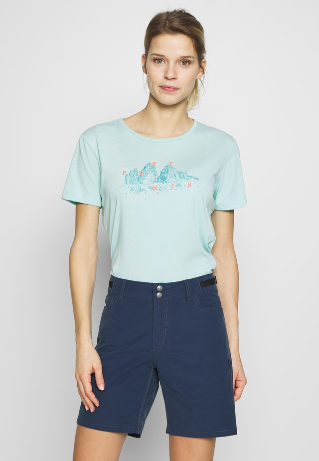 GRAPHIC TEE - T-shirt med print - canal blue melange