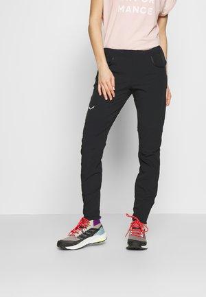 AGNER - Spodnie materiałowe - black out