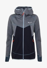 Salewa - PUEZ HYBRID - Fleece jacket - premium navy melange - 5