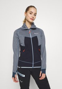 Salewa - PUEZ HYBRID - Fleece jacket - premium navy melange - 0