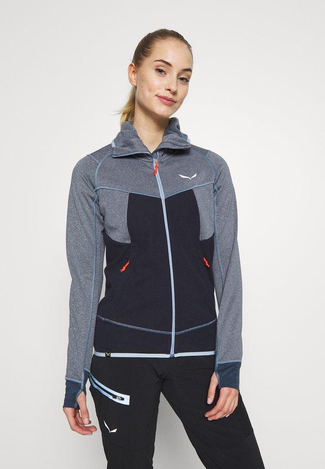 PUEZ HYBRID - Fleece jacket - premium navy melange
