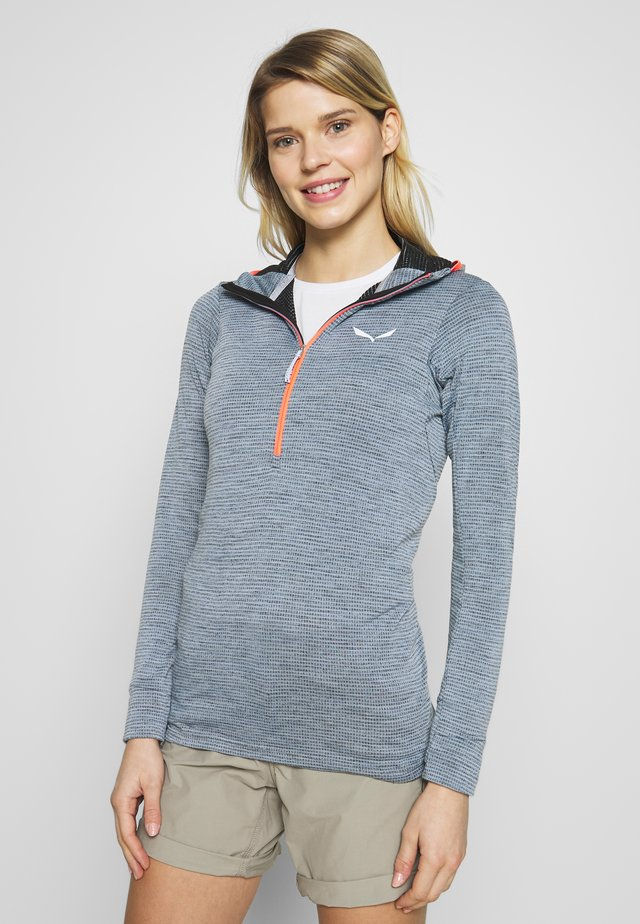 PUEZ ACTIVE - Hoodie - blue fog/black out