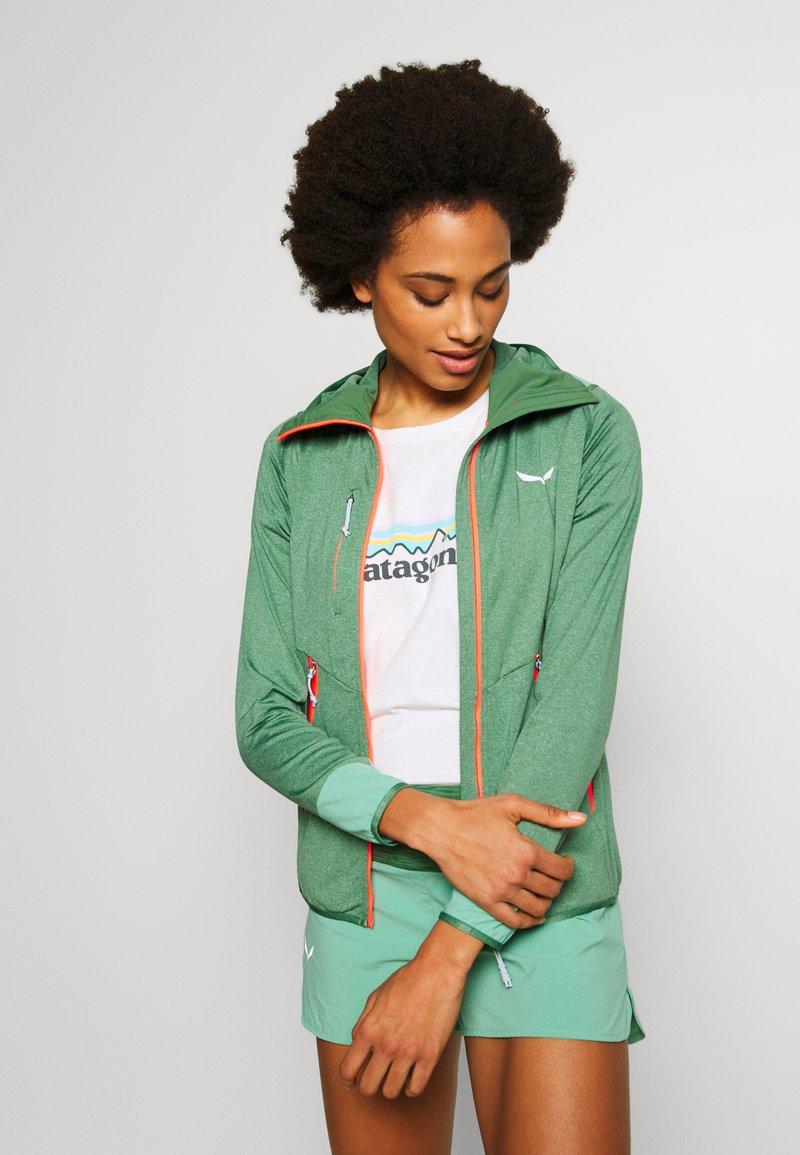 Salewa - AGNER HYBRID  - Fleecová bunda - feldspar green melange