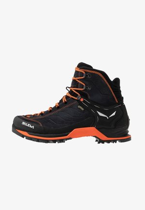 MTN TRAINER GTX - Hiking shoes - asphalt/fluo orange