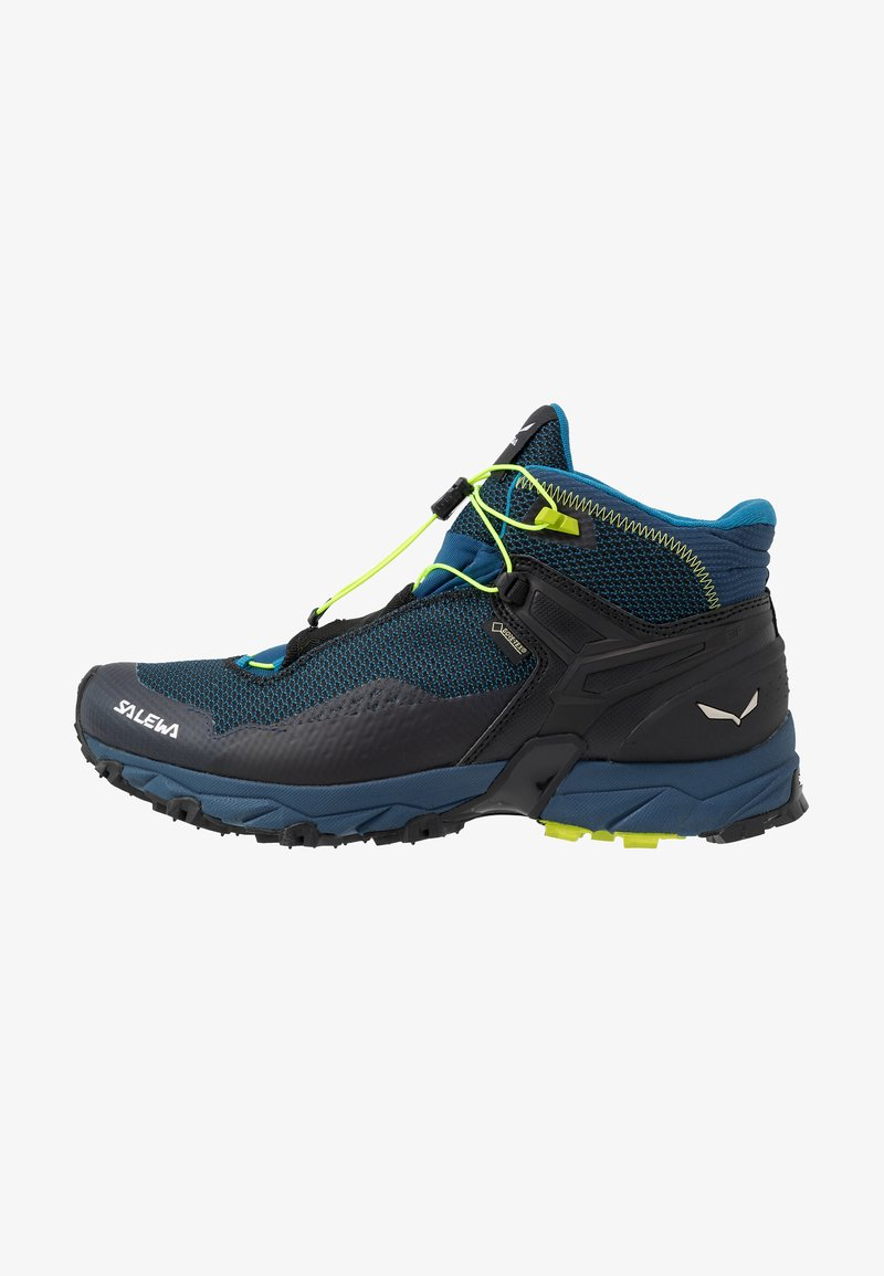 Salewa - MS ULTRA FLEX MID GTX - Hiking shoes - poseidon/fluo yellow