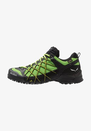 MS WILDFIRE GTX - Hiking shoes - black out/fluo yellow