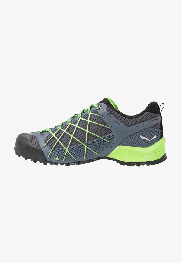 MS WILDFIRE - Climbing shoes - flintstone/fluo green