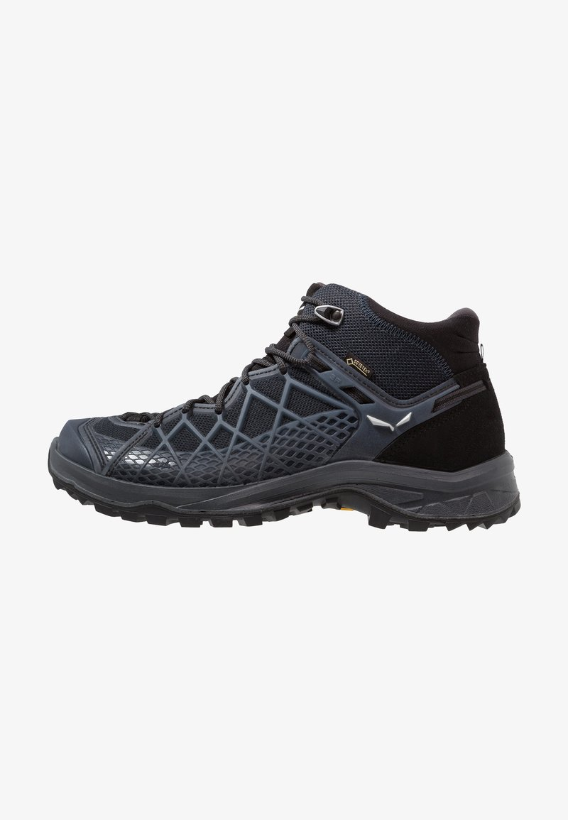 Salewa - WILD HIKER MID GTX - Hiking shoes - black out/silver