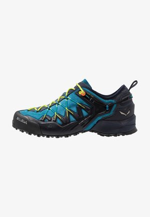 MS WILDFIRE EDGE - Chaussures à scratch - premium navy/fluo yellow