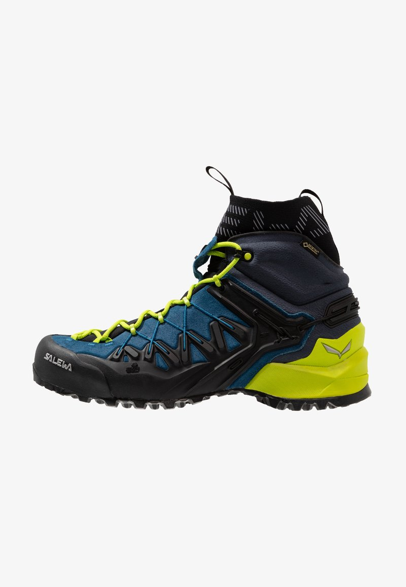 Salewa - WILDFIRE EDGE MID GTX - Hiking shoes - poseidon/cactus