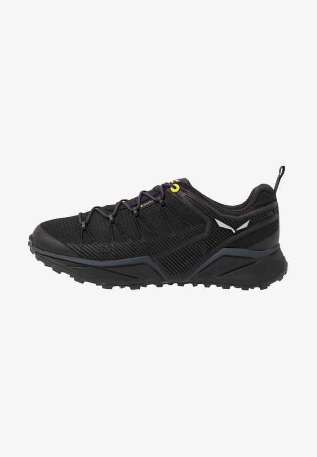 MS DROPLINE GTX - Outdoorschoenen - black out/fluo yellow