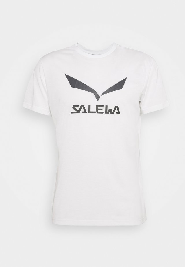 SOLID LOGO DRY TEE - T-shirt z nadrukiem - optical white