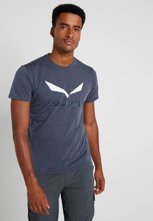 SOLIDLOGO TEE - T-shirt con stampa - ombre blue melange