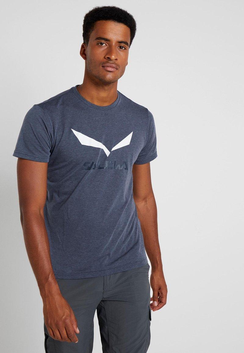 Salewa - SOLIDLOGO TEE - T-shirt imprimé - ombre blue melange
