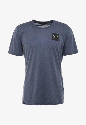 SMALL BOX TEE - T-shirt print - blue melange
