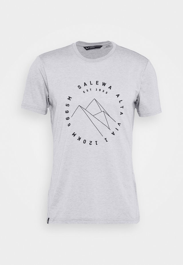 ALTA VIA DRY TEE - Printtipaita - heather grey